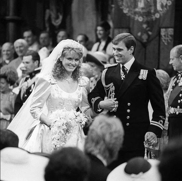 Sarah Ferguson and Prince Andrew were married in 1986.