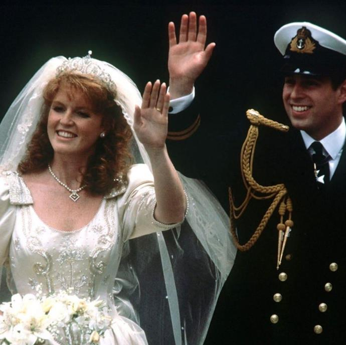 Sarah Ferguson and Prince Andrew were all smiles on their wedding day.