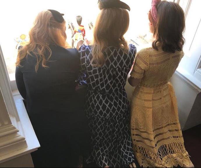 Sarah and her daughters, Princess Beatrice and Princess Eugenie.