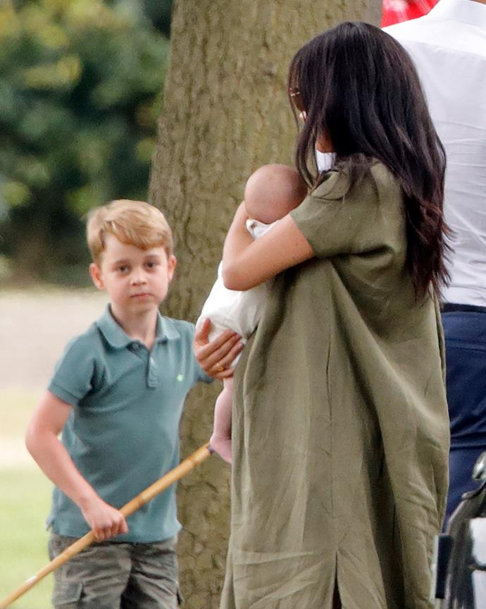 Prince George had already met his cousin prior to the polo match.