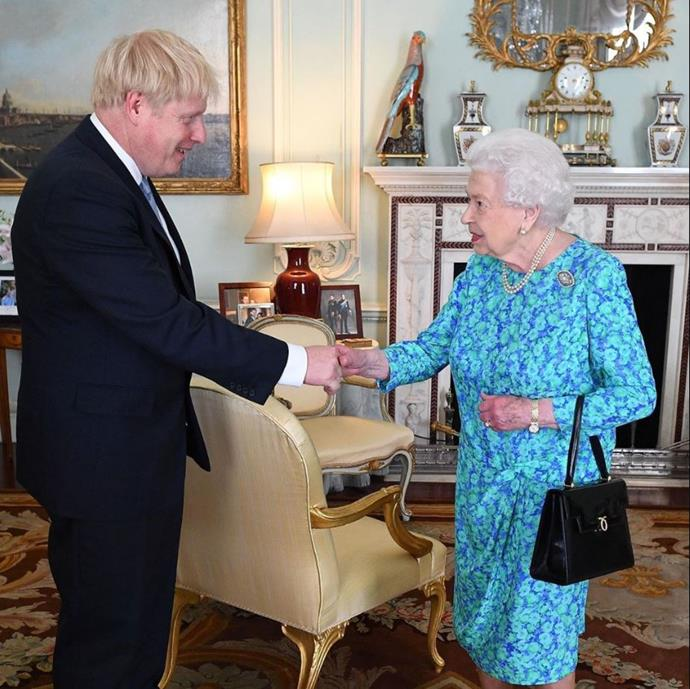 The Queen's first meeting with Boris Johnson following his announcement as the new British prime minister.
