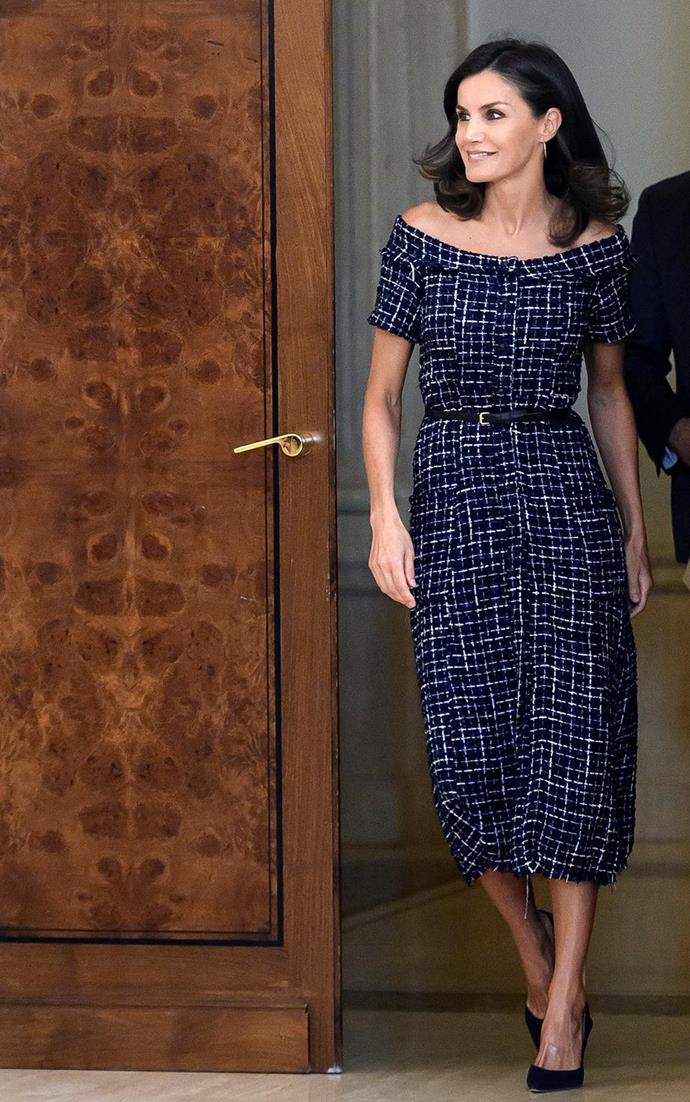 Letizia's Zara dress was an absolute bargain!