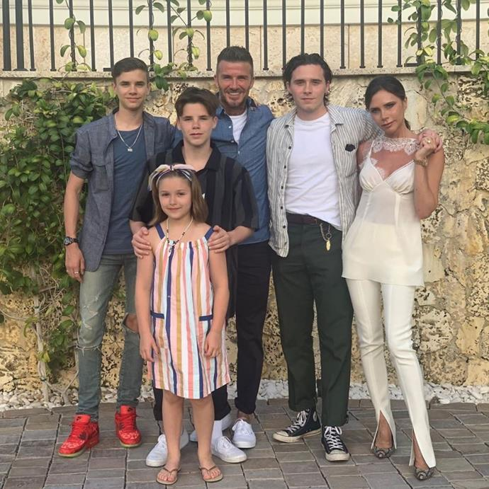 The Beckham family are quite the team!