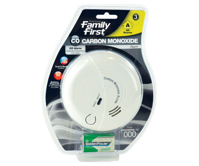 "**Gas detection:** Gas detection devices such as carbon monoxide detectors test your home's air quality constantly to ensure there are no dangerous chemicals in the air that can cause serious injury and death. The [Family First Carbon Monoxide Alarm](https://www.bunnings.com.au/family-first-carbon-monoxide-alarm_p4210604|target=""_blank""