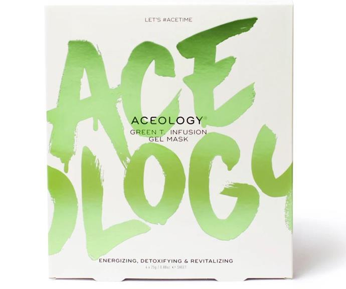 The boxes of masks are sold on Aceology's website.