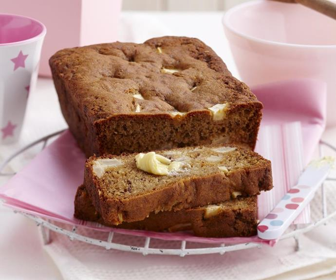 "**Gluten-free banana bread** <br><br> This recipe is also yeast-free, dairy-free and egg-free, so it's perfect to bring to a high tea where you're not sure of everyone's dietary requirements. <br><br> *See the full Australian Women's Weekly recipe [here](https://www.womensweeklyfood.com.au/recipes/gluten-free-banana-bread-7399|target=""_blank"").*"
