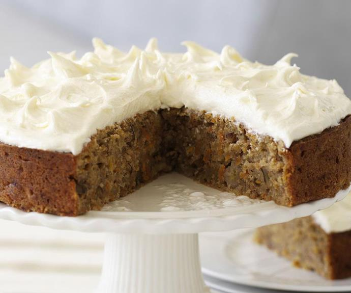 "**Carrot and banana cake** <br><br> Ever wondered what it would be like to combine carrot cake and banana cake? This dense and moist cake is delicious topped with a rich and [tangy cream cheese frosting](https://www.womensweeklyfood.com.au/recipes/cream-cheese-frosting-24836|target=""_blank""