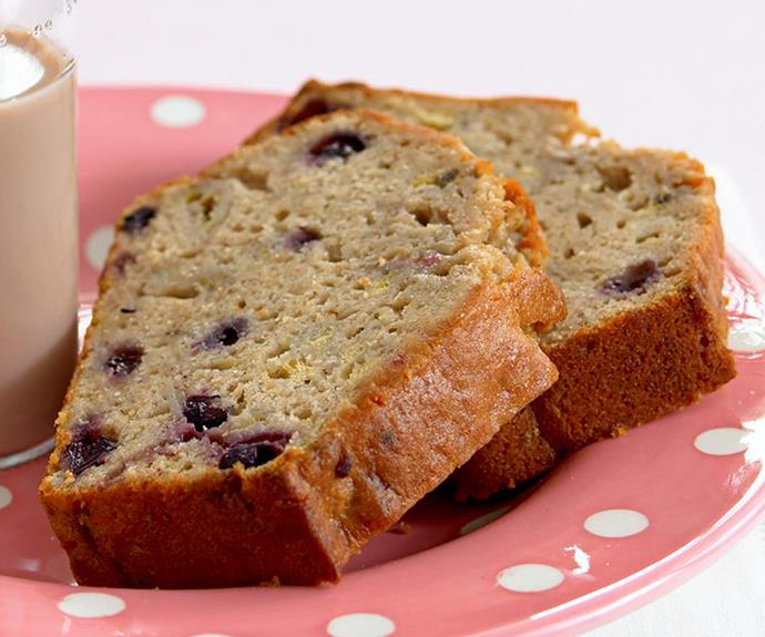 "**Banana and blueberry bread** <br><br> The addition of blueberries brings a wonderful sweetness to this loaf.  <br><br> *See the full Australian Women's Weekly recipe [here](https://www.womensweeklyfood.com.au/recipes/banana-and-blueberry-bread-19900|target=""_blank"").*"