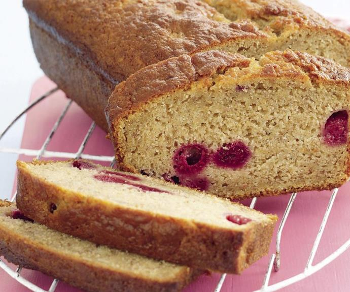 "**Banana and raspberry bread** <br><br> The frozen raspberries gives this bread a delicious moist texture.  <br><br> *See the full Australian Women's Weekly recipe [here](https://www.womensweeklyfood.com.au/recipes/banana-and-raspberry-bread-20495|target=""_blank"").*"