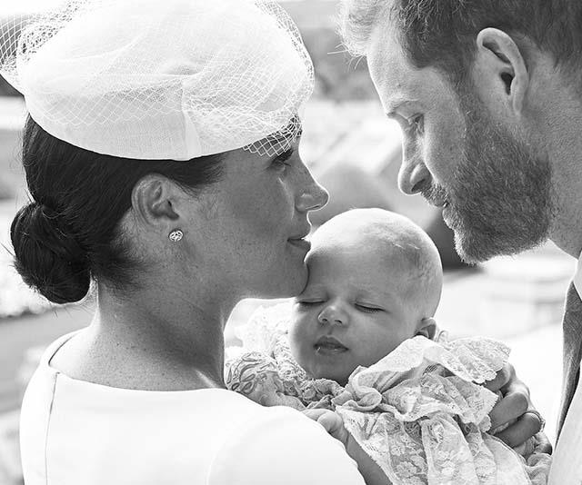 We're also big fans of Meghan's beautiful earrings, which were designed by Cartier. Oh, and how cute is Archie's little face!?