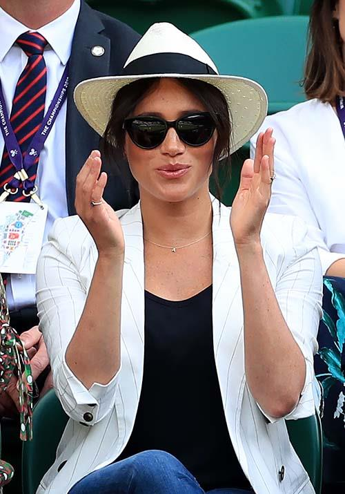 Her chic black sunnies were a Finlay & Co special, and that Madewell x Biltmore panama hat is about to be seen on every (wo)man and his dog for the summer to come.