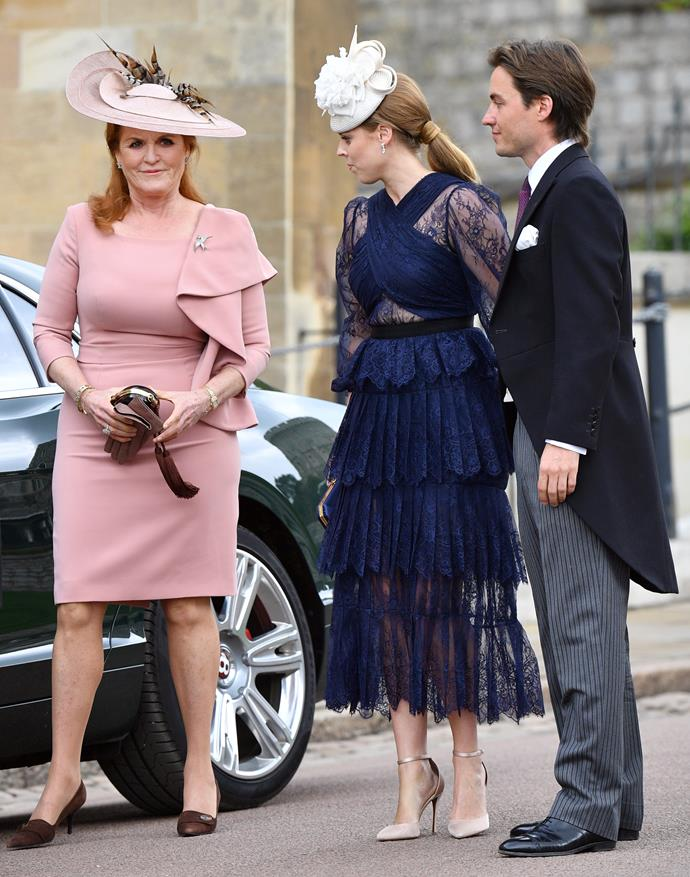 Beatrice took her boyfriend along to a family wedding in May.