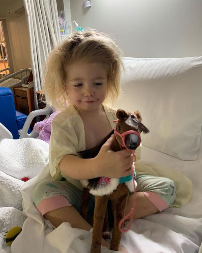 Scout was in hospital to have her tonsils removed.