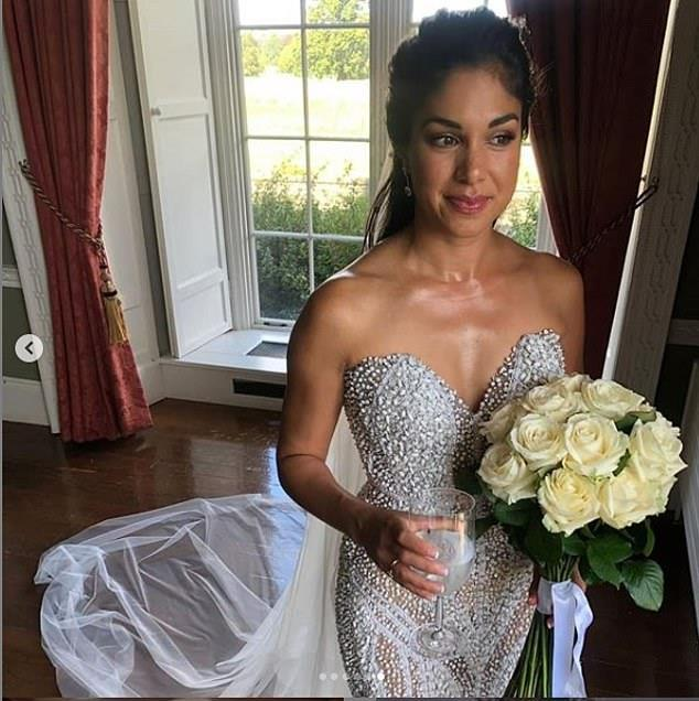Sarah told TV WEEK the designer behind her wedding dress is Australian Fashion House Alin Le' Kal.