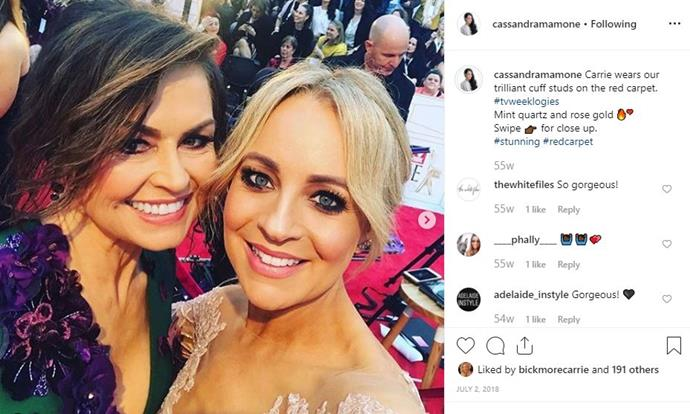 Carrie Bickmore is among the celebs who have worn Cass's pieces.