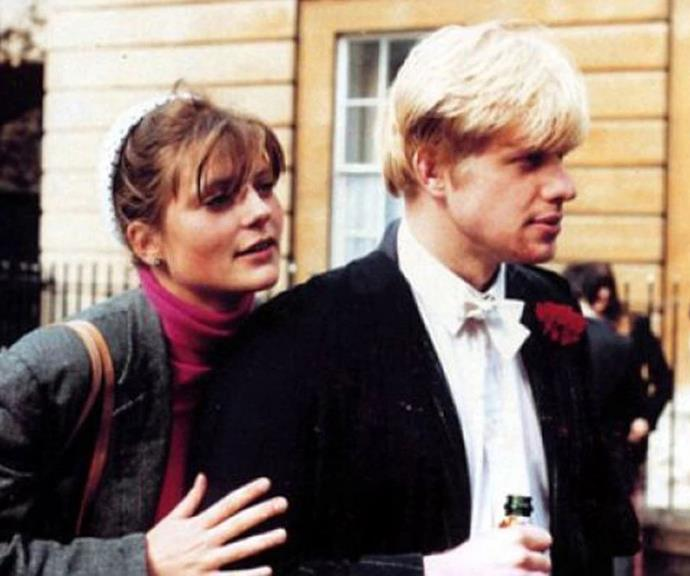Boris and Allegra coupled up at Oxford University.
