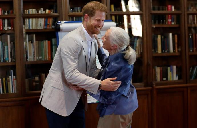 The issue also features an interview with Dr Jane Goodall and Meghan's husband Prince Harry.