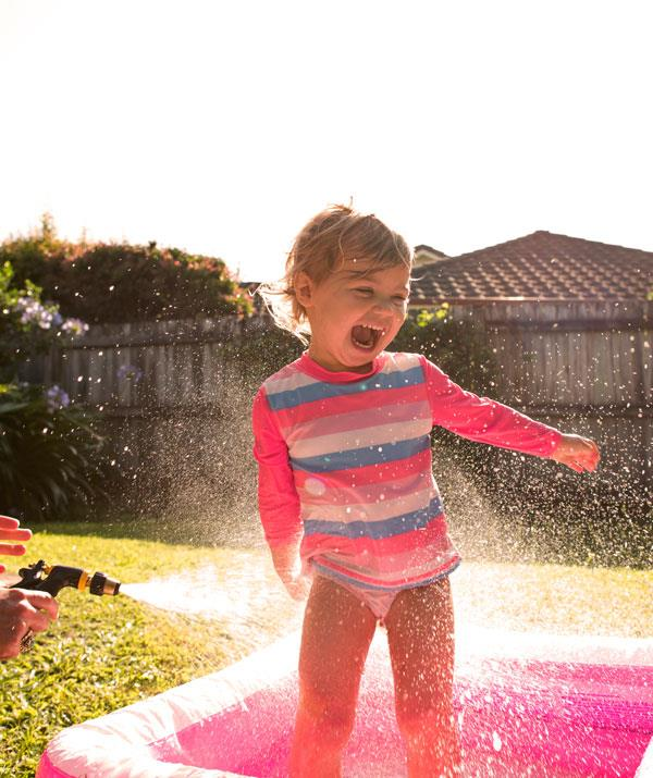 Happiness is water play AND earning points that can be redeemed for a range of rewards!
