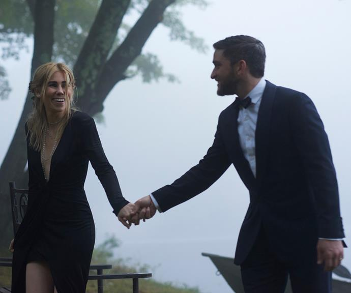 **Zosia Mamet** <br><br> The *Girls* actress, famous for playing the hilarious Shoshana on the hit HBO show, wore an unexpected tight black dress with a deep v-neck by Givenchy during her wedding to fellow actor Evan Jonigkeit in 2016.