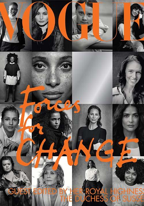 The cover features 15 inspiring women, along with a space - for us, the reader.