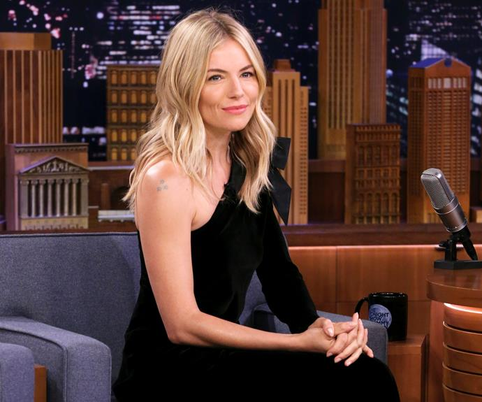 The gorgeous Sienna Miller on Jimmy Fallon.