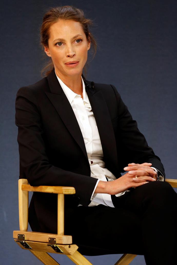 **Christy Turlington** <br><br> Meghan is a big fan of Christy and so are we. The 50-year-old model has worked hard to raise money for charitable causes, including her own self-founded charity Every Mother Counts, which works to give women access to maternity care.