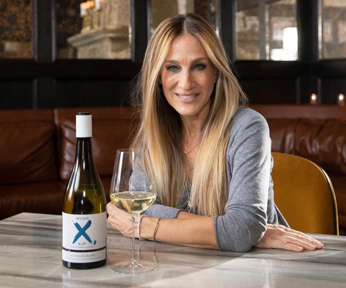 Sarah Jessica Parker with her new Sauvignon Blanc wine.