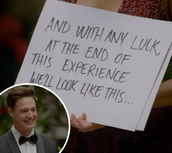 Hannah probably won the evening by bringing *Love Actually* cards. <br><br> And Matt's cheesy grin said it all.