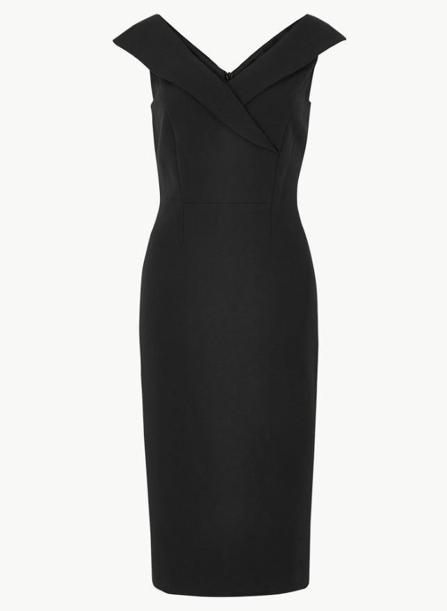 "Marks & Spencer PETITE Bodycon Dress, $109. Available online [here](https://www.marksandspencer.com/au/petite-bodycon-dress--/p/P60160312.html|target=""_blank""|rel=""nofollow"")."