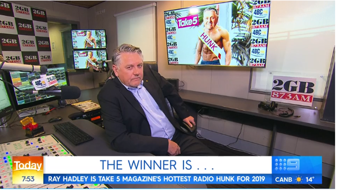 Ray Hadley was thrilled with his win!