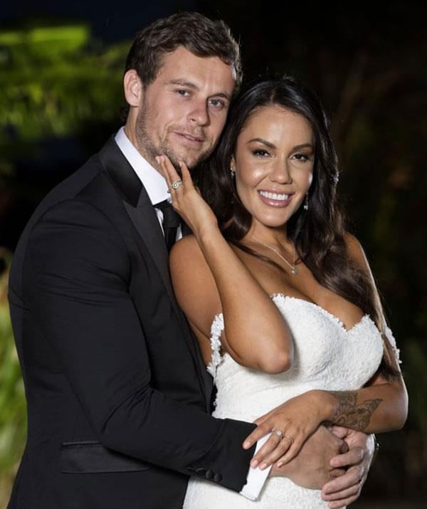 *Married At First Sight's* Davina Rankin (pictured with Ryan Gallagher) and Tommy shared a brief fling.