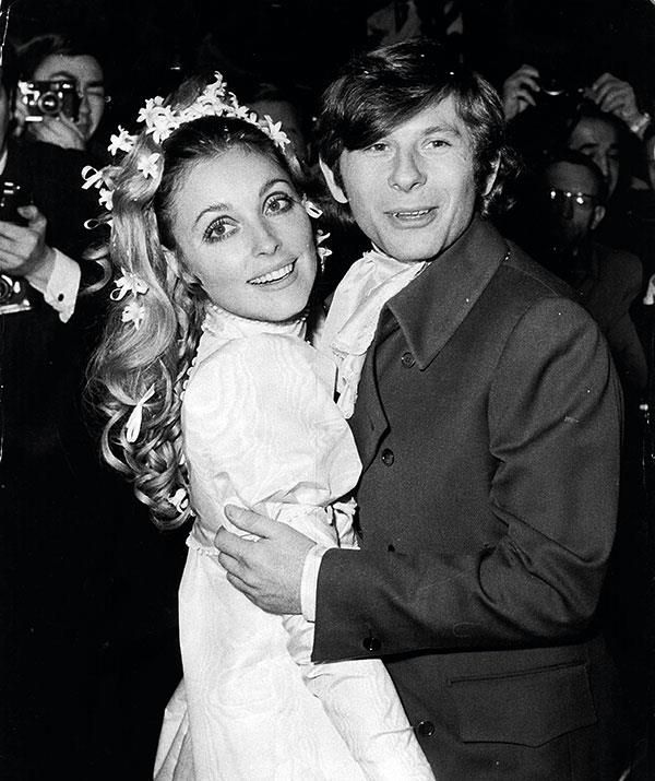 Sharon and Roman at their celeb-packed wedding in 1968.