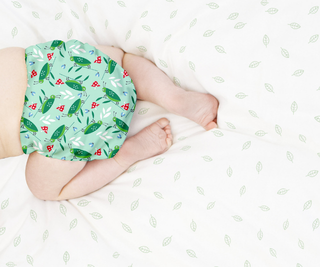 Modern cloth nappies opt for velcro or snap fastenings which means there's no pins in sight!