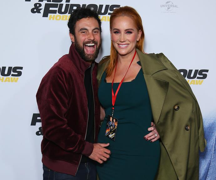 This photo sparked pregnancy rumours, but Jules hosed down speculation she is expecting.