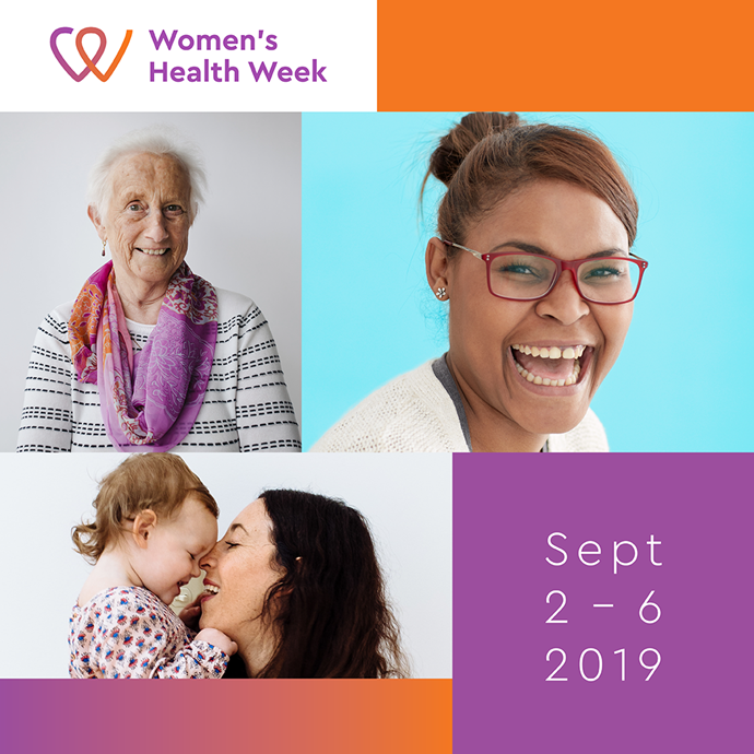 Women's Health Week is happening from September 2nd until 6th.
