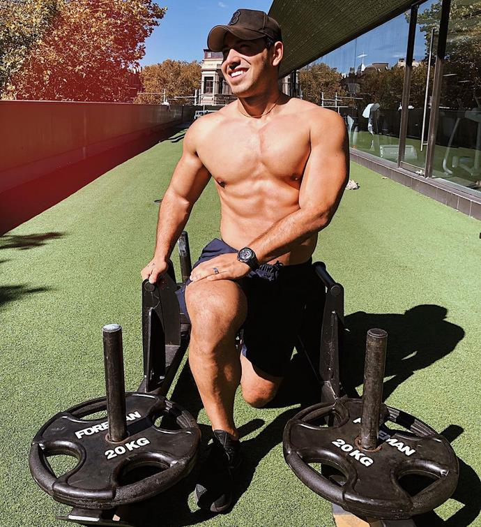 Jono is a big fan of HIIT and weights training.