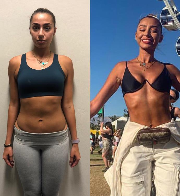 One of Jono's clients wanted to lose weight for Coachella and did this in just six weeks.