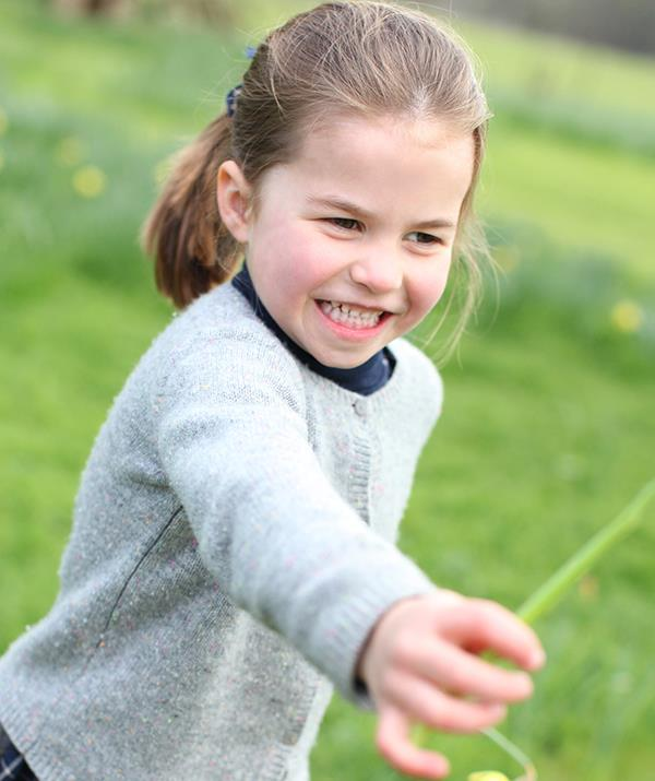 Kate snapped this gorgeous pic of Charlotte at Anmer Hall earlier this year for her fourth birthday.