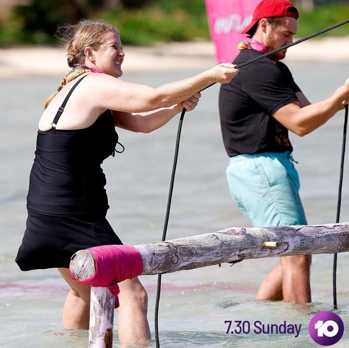 Sarah lost around six kilos during her time on *Survivor*.