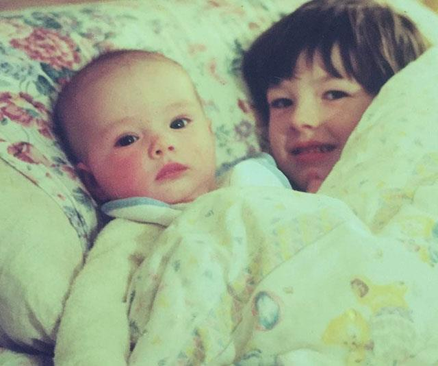 William as a baby with big brother Charlie in the 1990s.