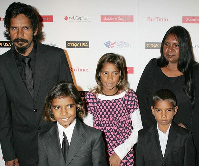 Brandon with his family in New York at the G'Day USA Australia Black Tie Gala in 2009.