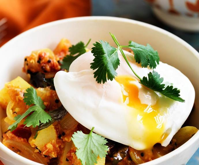 **Breakfast curry:** Think Dad might be sick of bacon and eggs? Try this delicious and light breakfast curry instead.
