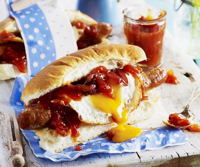 **Breakfast hot dog:** Easy for even the littlest members of the family to make, this breakfast hot dog is sure to put a smile on Dad's face on Father's Day morning.