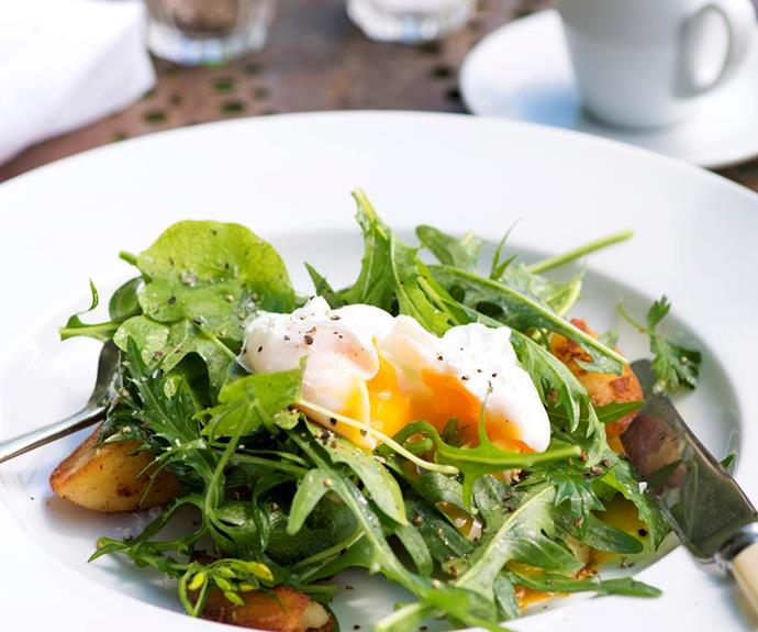 **Breakfast salad:** So simple and so delicious. This light, engine-starter will set Dad up for a day full of adventure while leaving plenty of room for lunch!