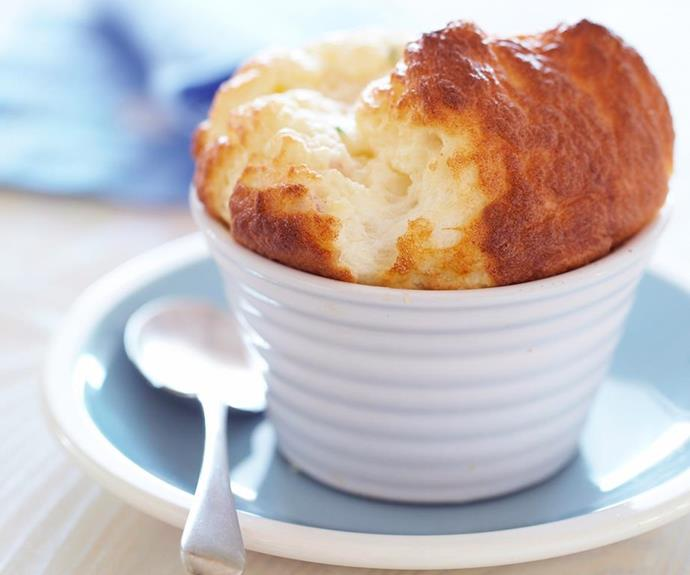 **Breakfast souffle:** The perfect twist on breakfast for a Father's Day to remember. With smoked ham, parmesan and chives bringing the flavour, this light, tasty breakfast is sure to be a big hit!
