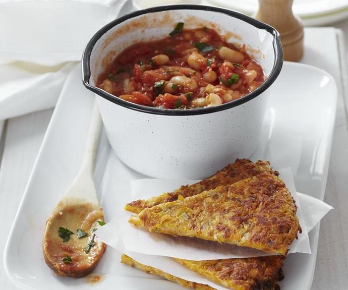 **Oven-baked rösti with breakfast beans:** Whip up this exotic breakfast on Father's day and it will soon become a family favourite!