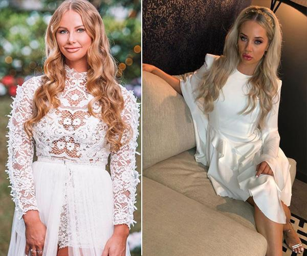 She dressed as a bride as she entered the *Bachelor* mansion, but we reckon Rachael is the spitting image of another bride...*MAFS*' Jessika Power.