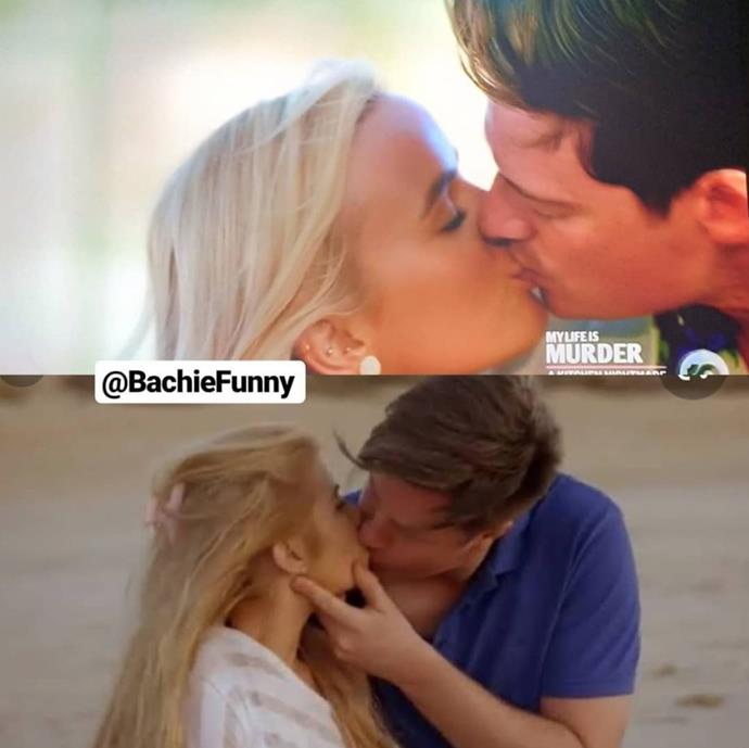 And when he and Elly locked lips, it was like reality TV history was repeating itself!