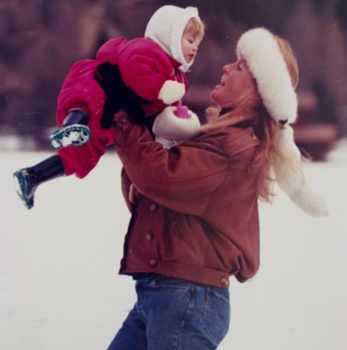 Sarah and her eldest daughter have fun in the snow!