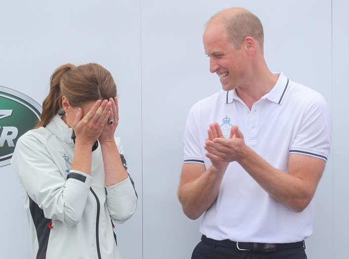 Poor Kate! The Duchess looked comedically crest-fallen to be told she had come last.